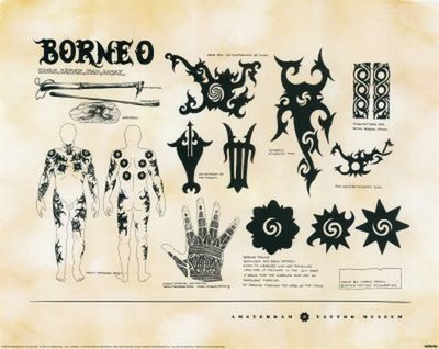 borneo portrait of a tattoo. Black Bedroom Furniture Sets. Home Design Ideas